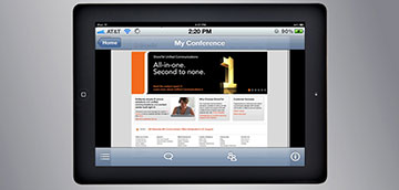 ShoreTel Conferencing on iPad with OS X screen